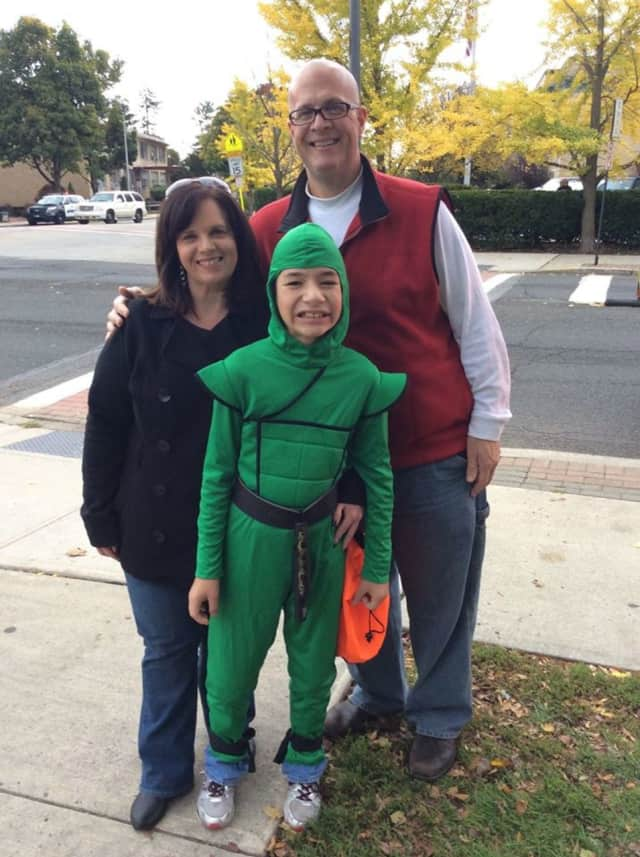 The Scarr family enjoyed the Suffern halloween parade last year. This year's parade will take place Sunday.