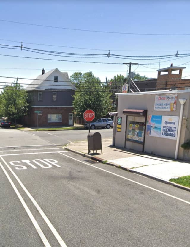 The Saddle Brook teens were robbed near this corner, Garfield police said.