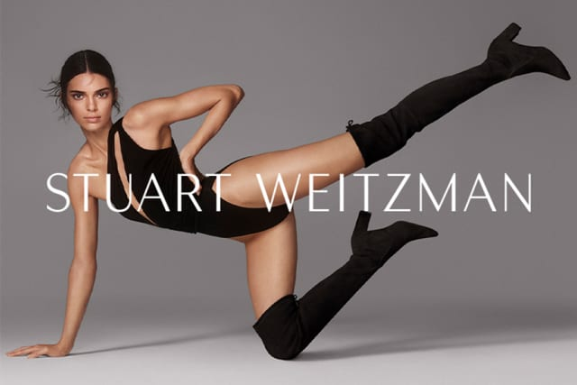 Kendall Jenner in the new SW Boot Camp campaign. Courtesy Stewart Weitzman.