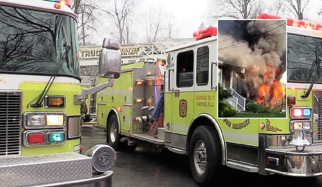 Wayne Fire Companies 1, 2, 3, 4 and 5 doused the blaze.