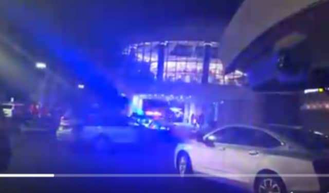 Responders converge on the Destiny USA mall in Syracuse after the Black Friday shooting.