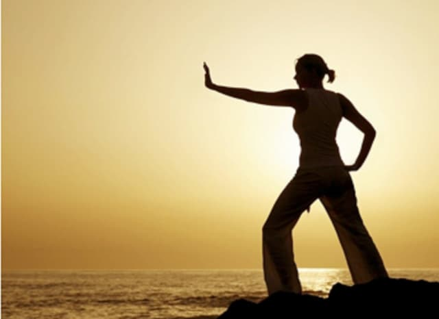 Tai chi exercises promote health and well-being.
