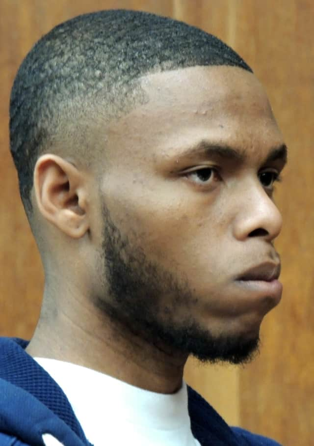 Malik Taylor at his sentencing Friday in Superior Court in Hackensack.