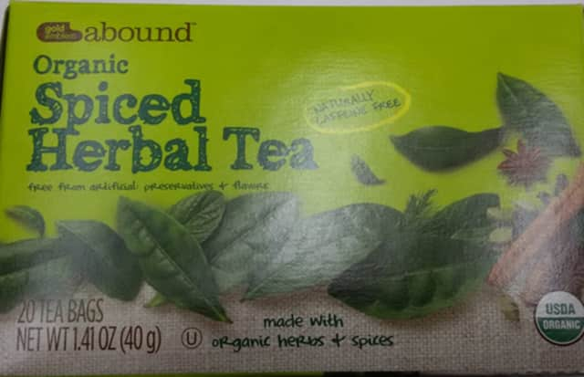 "CVS has recalled hundreds of boxes of ""Gold Emblem Abound Organic Spiced Herbal Tea 1.41 oz"" for possible Salmonella contamination."
