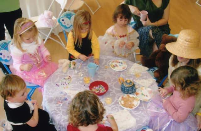 Princesses can drink tea and eat sandwiches at the Wyckoff YMCA's tea party.