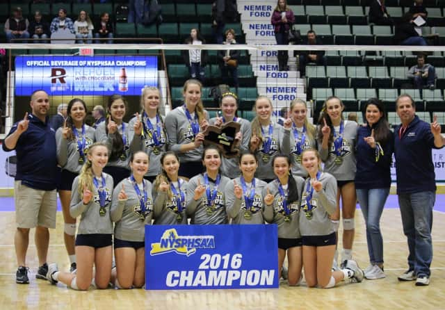 Unbeaten Walter Panas won the Class A state volleyball by finishing the tournament undefeated with wins in nine straight games,