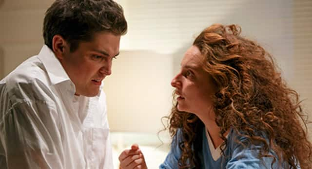 "Philip Ettinger and Tracee Chimo in the 2013-14 production of ""Bad Jews"" at the Roundabout Theatre in New York City."