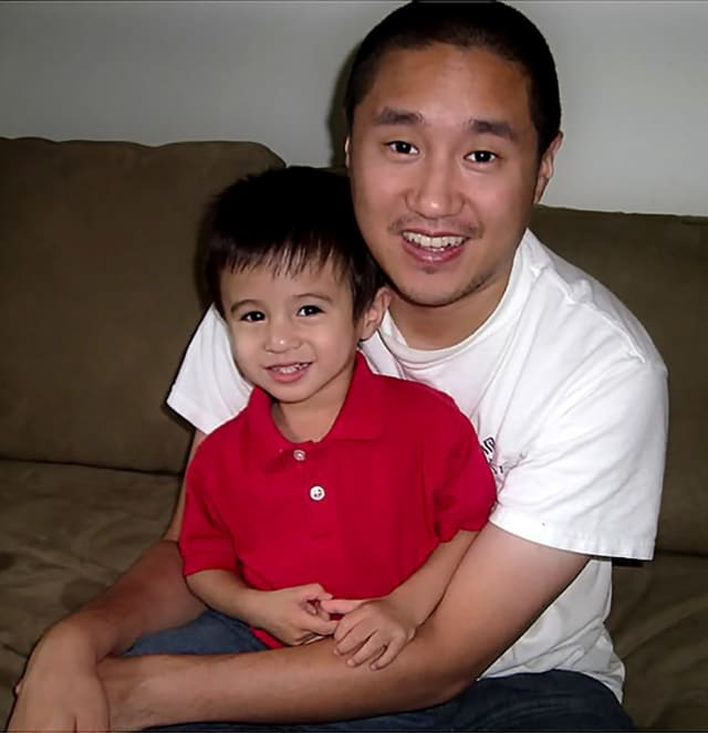 Ted Yang with his son Daniel.