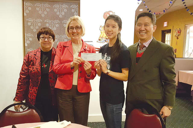 Stratford Library's Teen Services Department receives check from Panda House.