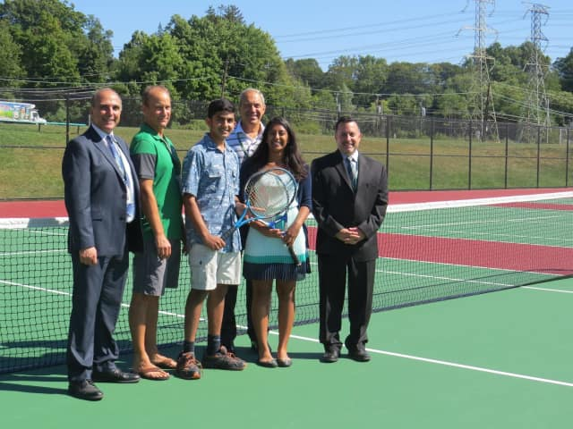 Yorktown Schools Show Off Renovated Tennis Courts Yorktown Daily Voice