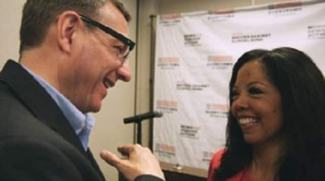 """the Rev. Rob Schenck, a far-right Evangelical minister, and Lucy McBath, the mother of a shooting victim, are the focus of """"The Armor of Light"""" being shown Oct. 22 at the Jacob Burns Film Center."""