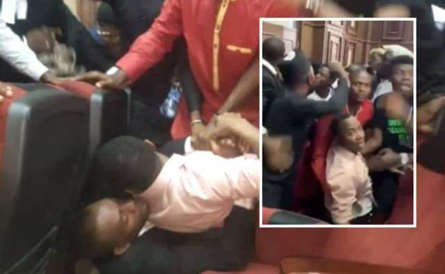 The Cable and #FreeSowore published images of the pandemonium that exploded in a federal Nigerian courtroom when Sowore was seized.
