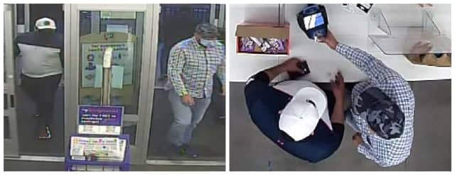 Know them. Wilton Police are asking for help identifying the two men who allegedly stole cash and credit cards.