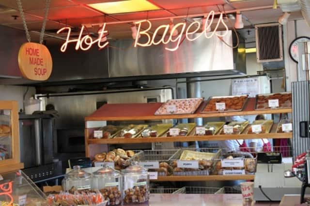 The bagels are served warm at Three Star Bagels in Fort Lee.