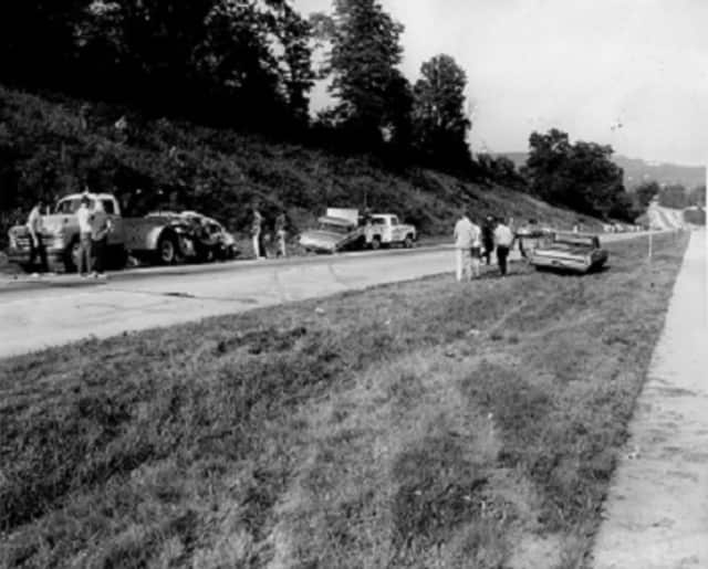 Clarkstown police, in a Throwback Thursday post on their Facebook page, are asking the public to identify the road where this accident took place.