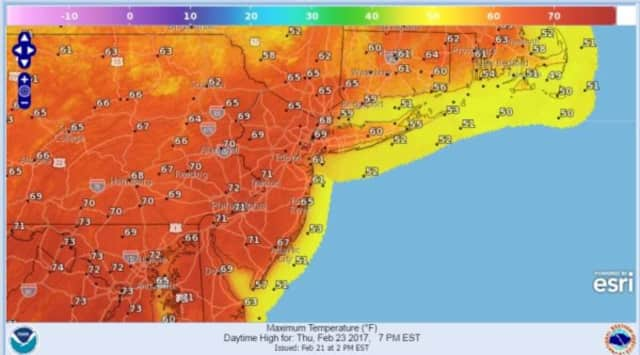 Meteorologist Joe Cioffi said the region could see record temperatures Thursday.