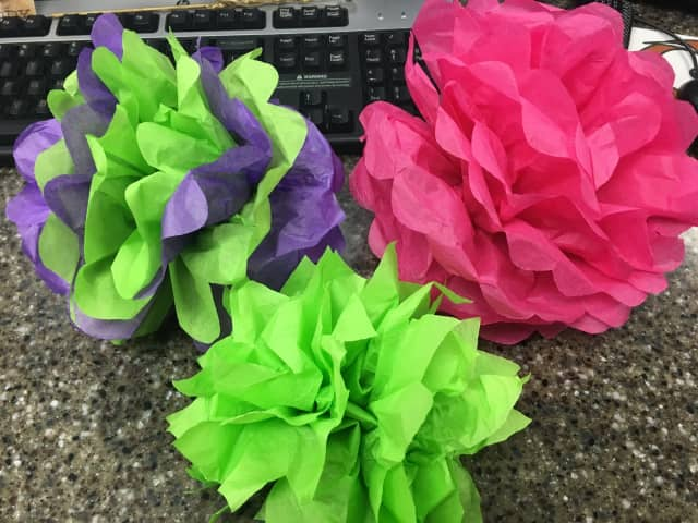 The East Rutherford Library will host a tissue paper flower making craft session.