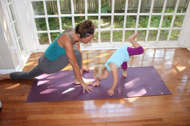 The Scarsdale Library hosts yoga for children.