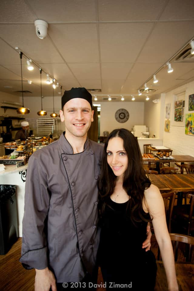 Tomer Zilkha, chef/proprietor behind Englewood's Patisserie Florentine and Poached, with his wife, Amy.