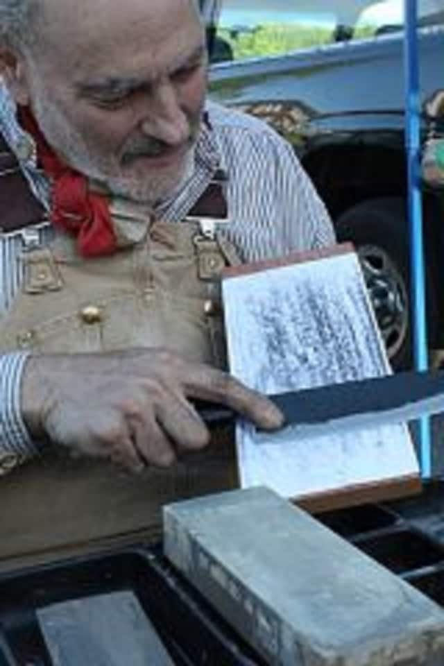 """""""Nick the Knife"""" will be on hand to sharpen tools while visitors shop at the Plant Fest sale Friday May 6 at Teatown, Ossining, N.Y."""