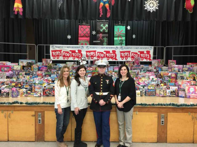 Brookside Elementary School's Toys for Tots collection will help 900 local families in need, school officials said.