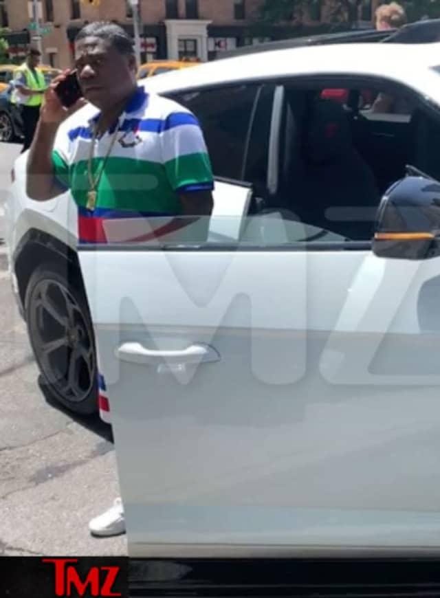 The $1.5 million luxury car was struck by a Honda CR-V, according to TMZ.