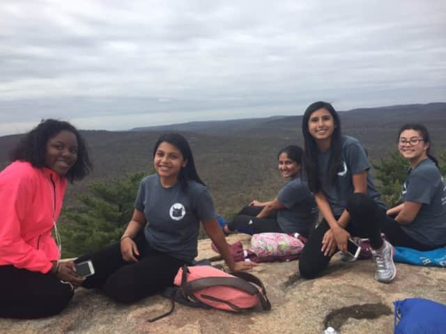 These members of the  Valhalla High School Book Club hiked the Appalachian Trail.