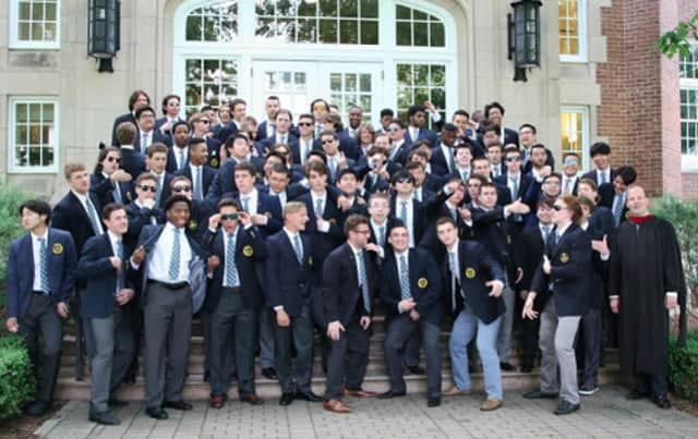 Members of Trinity-Pawling School's Class of 2016 strike a pose after commencement exercises.