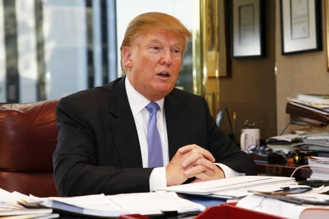 Donald Trump in his Manhattan office.