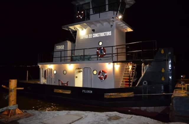 "The captain of the Hudson River tugboat ""Pilgrim"" was taken ill and died late Monday as he was trying to dock the vessel in Haverstraw."