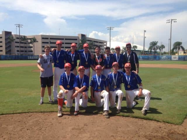 Mid-Westchester U16 Baseball team wins back to back Golds, winning in Ft. Lauderdale's 2015 JCC Maccabi Games on Aug. 9.