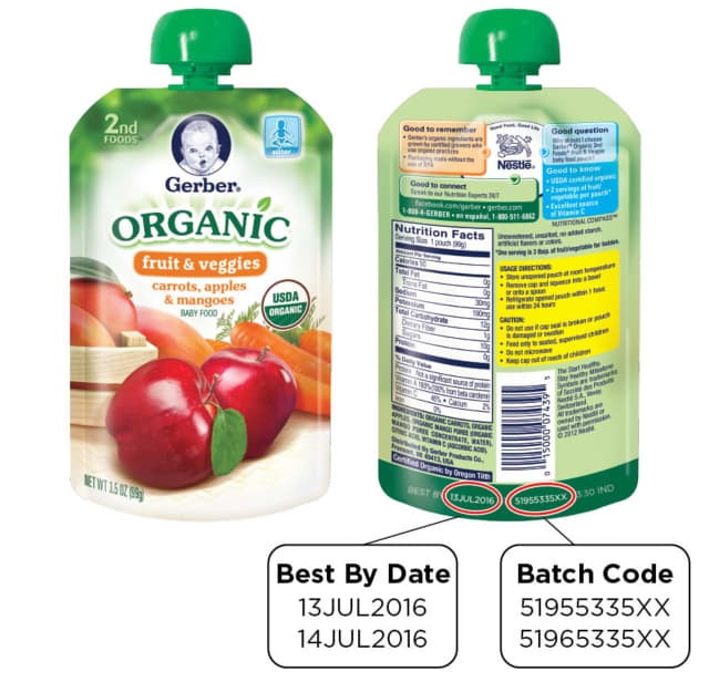 Gerber is recalling several of its organic pouch products for packing problems that may spoil the food.