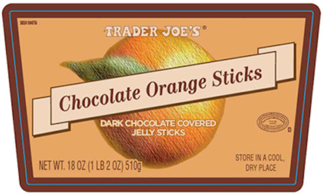 Did you buy this from Trader's Joe? Don't eat it. Both chocolate covered Orange and Raspberry jelly sticks are being recalled.
