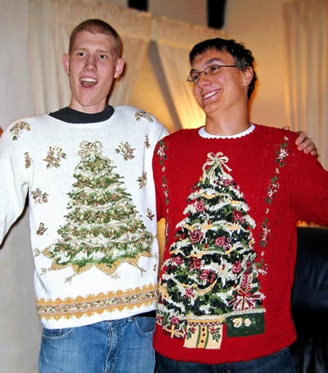 Ugly sweaters are one day's theme for Somers High School's Holiday Spirit Week.
