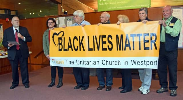The Unitarian Church in Westport plans on replacing a Black Lives Matter banner that was vandalized.