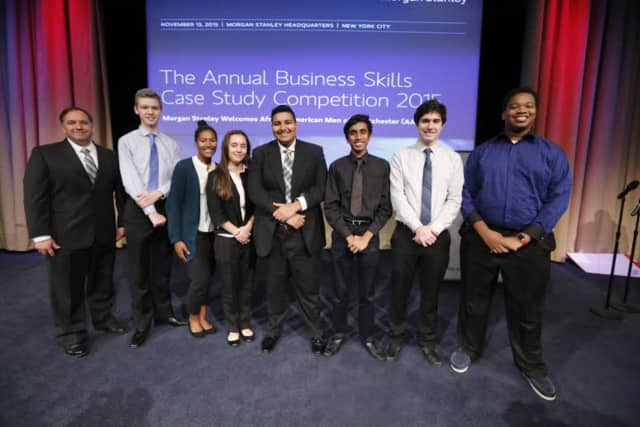 High school students recently took part in the annual Morgan Stanley African Men of Westchester's Youth Business Skills Case Study competition.