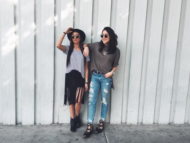 Lara Henawi, left and Kathleen Deleasa, right, of Ludovica online.