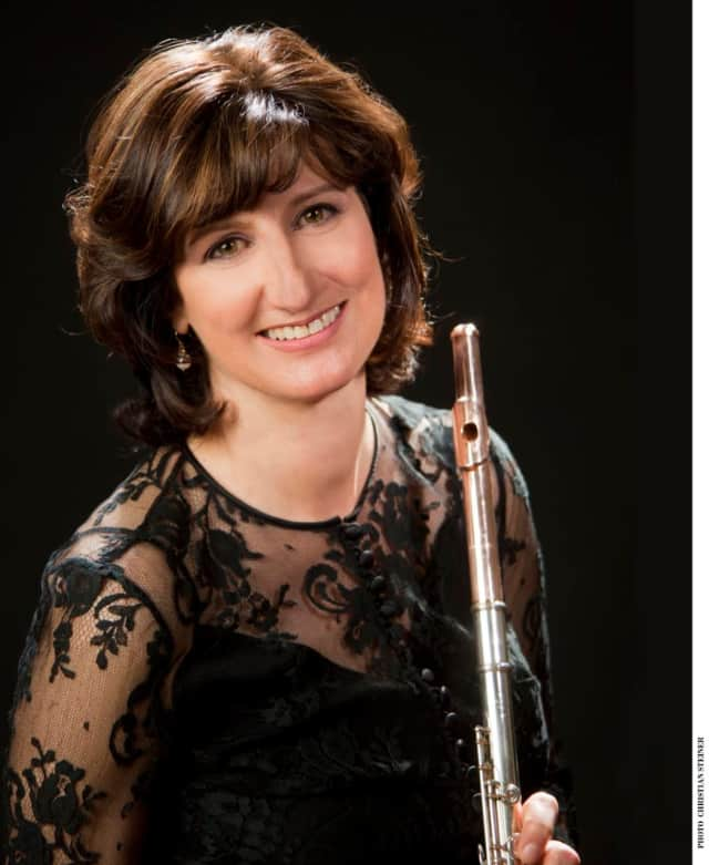 Four members of the New York Philharmonic, including piccoloist and flutist Mindy Kaufman (pictured), will coach student chamber music ensembles at Hoff-Barthelson Music School on Monday, April 24.