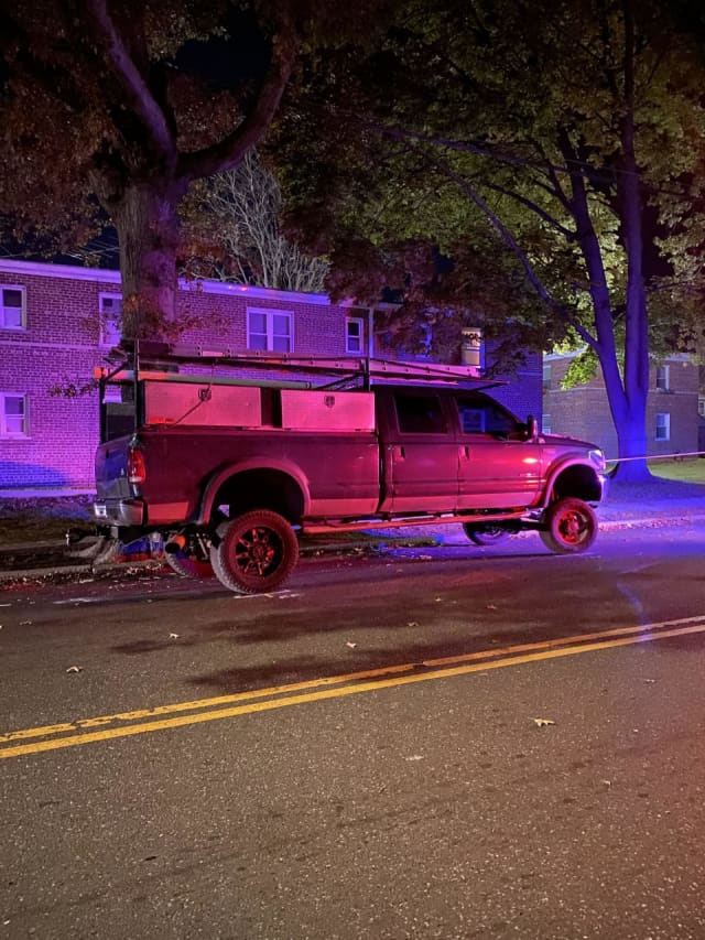 The truck involved in the incident.