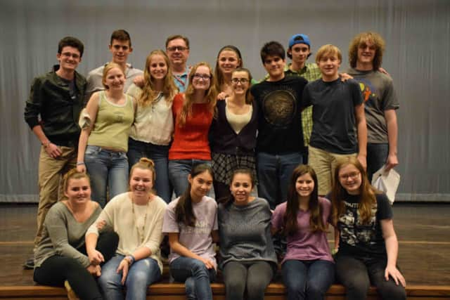 """Bronxville High School cast members and drama teacher Peter Royal will present Shakespeare's """"A Midsummer Night's Dream"""" on Nov. 13 and 14."""