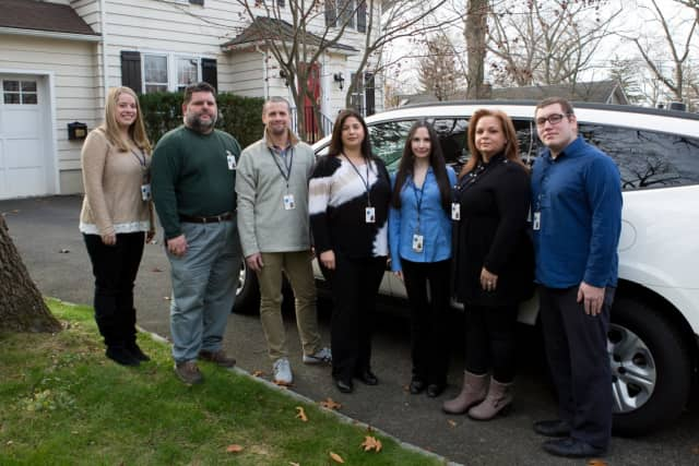 The Rockland Behavioral Health Response Team; Tracie Florida is in the middle.