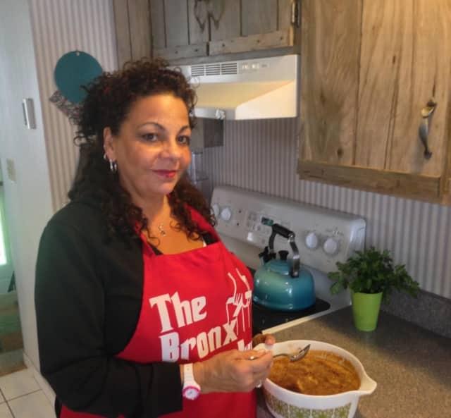 Virginia Vaccaro in her Mahopac kitchen.