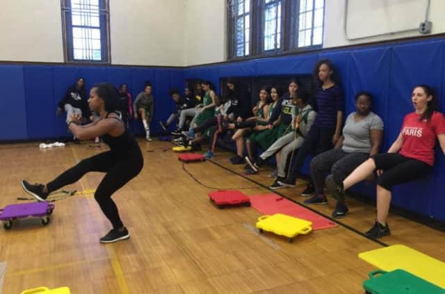 New Rochelle students and adults have taken the fitness challenge.
