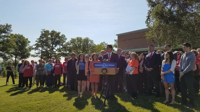 New York Gov. Andrew Cuomo was in White Plains to promote gun safety this week.