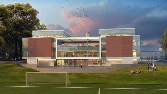 An artist's rendering of the new business school at Iona College.