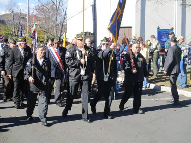 The village of Suffern vets march in last year's Veterans Day parade.