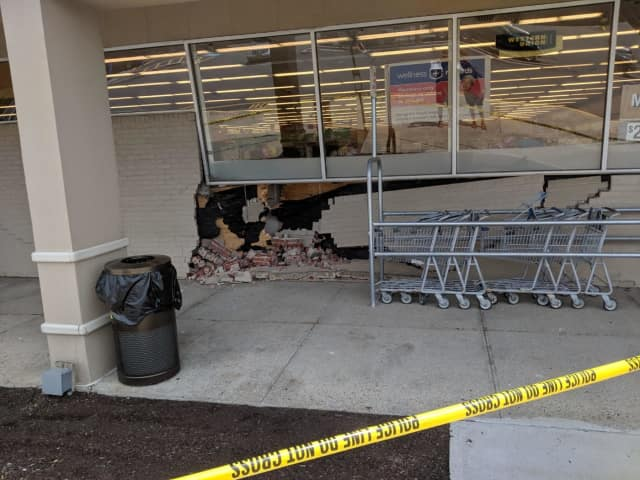 A vehicle drove into the front of the Rite Aid at the Mahopac Shopping Centre.