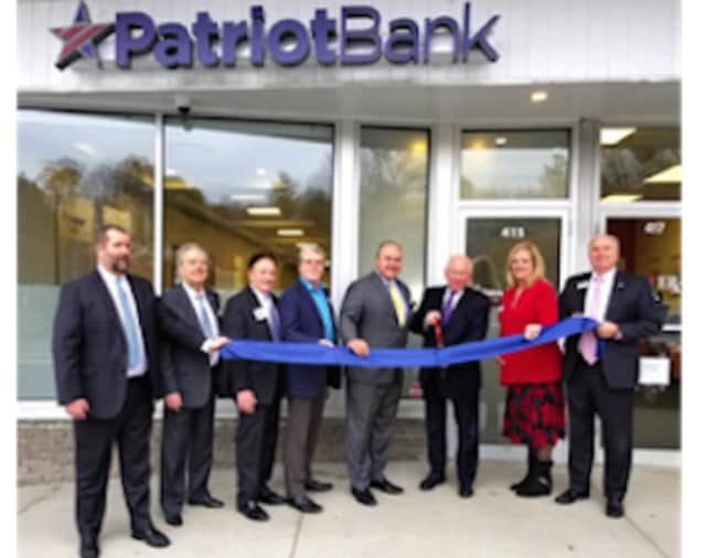 Stamford-based Patriot Bank celebrates the opening of its new branch in Westport.
