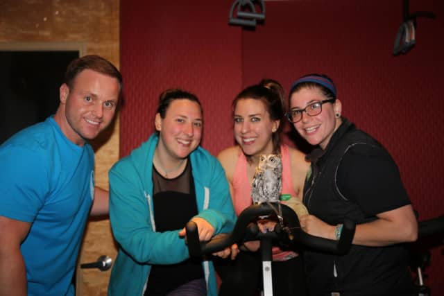 Charlie Link, o-owner of Scarsdale Cycle + TRX Studio; Isabelle Kuhn, Rebecca Snyder and Casey Keefe of the Greenburgh Nature Center.