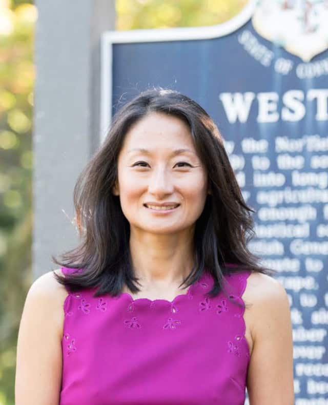 Jacqueline Kim Blechinger, a Republican, is a member of the Weston Board of Education.